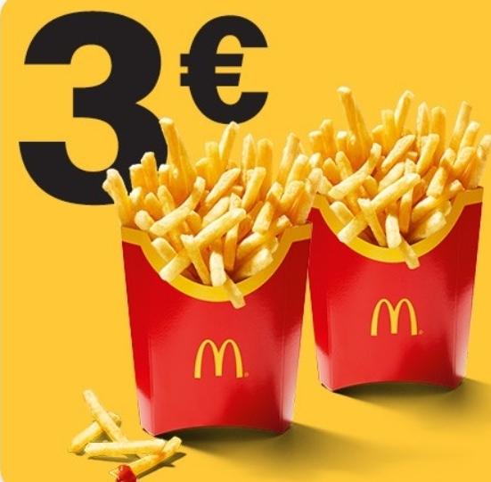 2x Pommes groß für 3€ [McDonalds App]