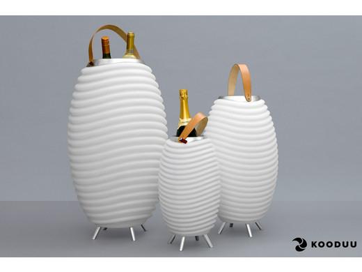 """Kooduu Bluetooth-Lautsprecher """"Synergy"""" in 3 Größen verfügbar (LED-Leuchte,Getränkekühler, Pflanzgefäß) [iBOOD]"""