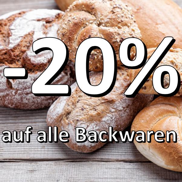 -20% auf alle Backwaren bei Einkauf über 40€ [ALDI Süd]