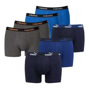 3x Puma Boxershorts und 4x Head Boxershorts, 10€ Rabatt on top ab 2 Sets