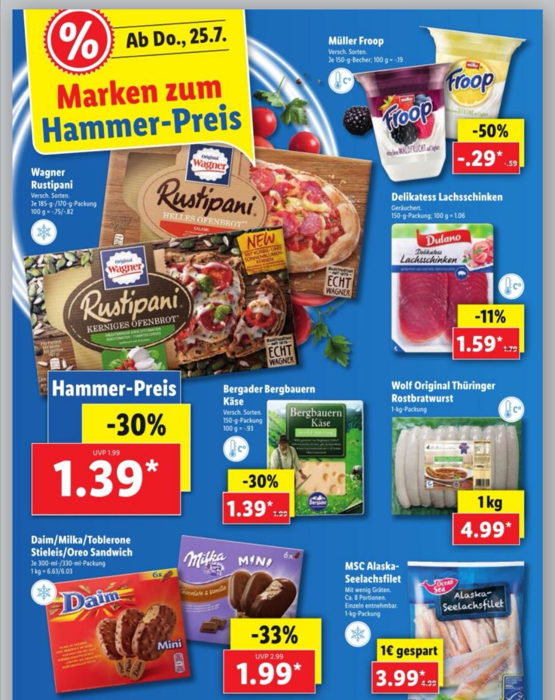 [ Lidl bundesweit ab Donnerstag ] Wagner Rustipani für effektiv 0,89€ (Angebot +Scondoo)