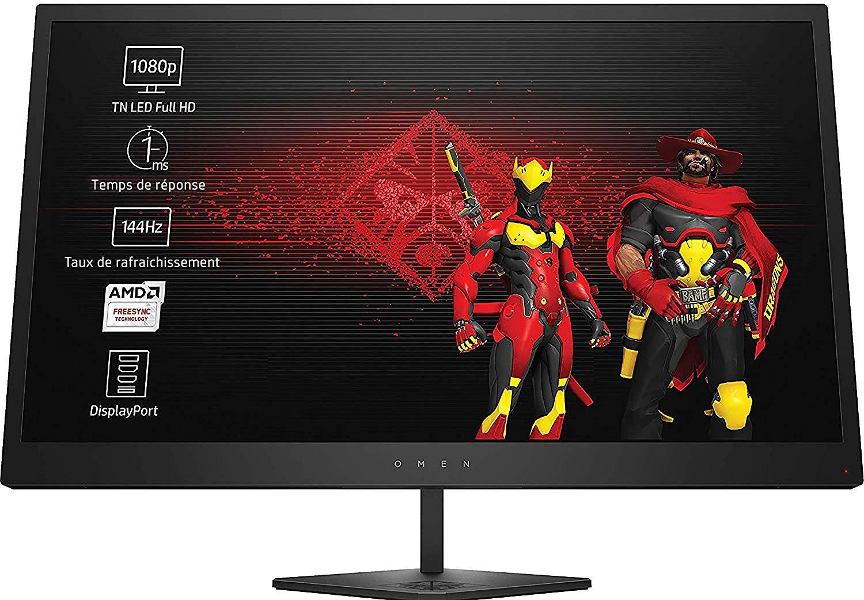 HP Omen 25 (24,5 Zoll) Full HD Gaming-Monitor (144 Hz, FreeSync, 1ms, HDMI, DisplayPort)
