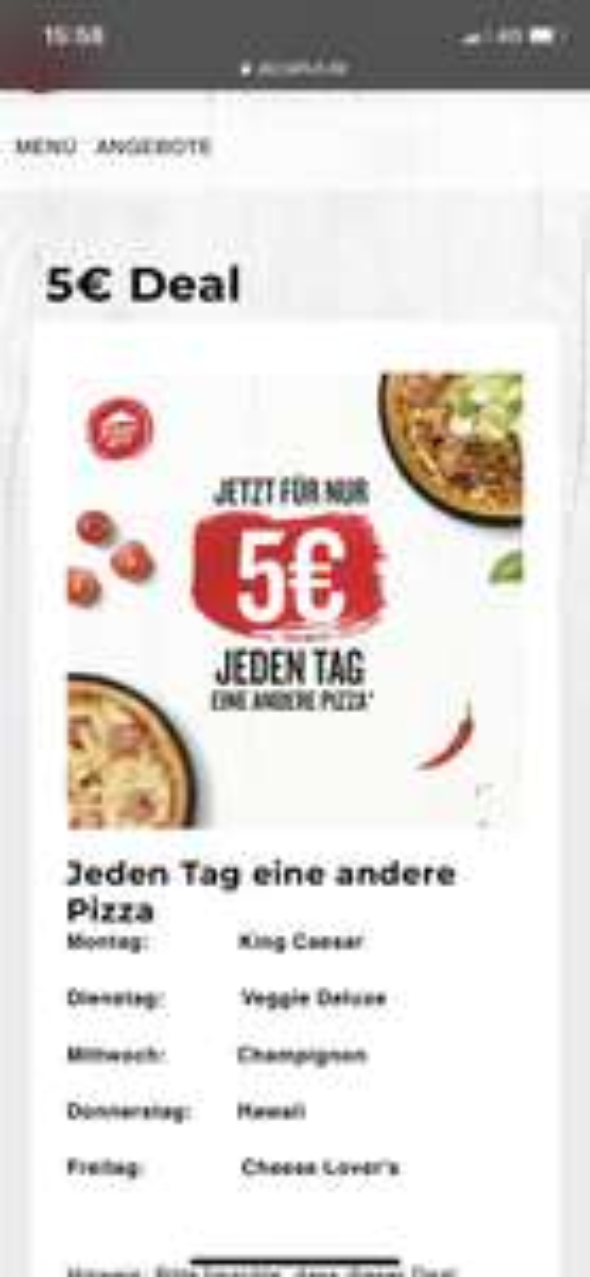Pizza Hut Pizza für 5€