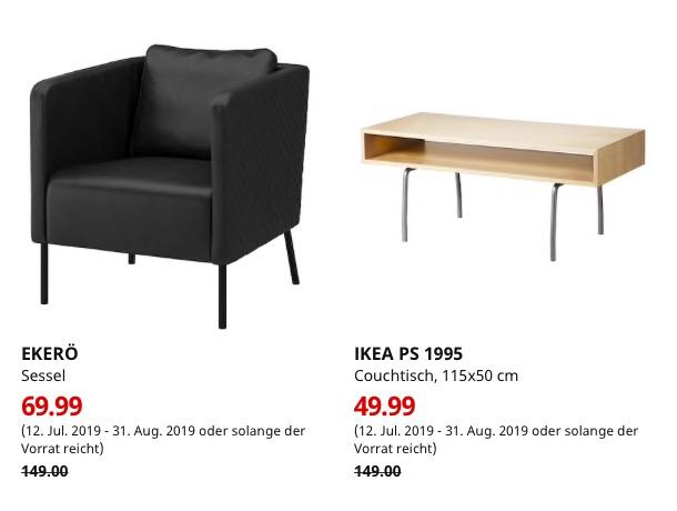 [Lokal] IKEA Ludwigsburg - IKEA PS 1995 Couchtisch 49,99€ / EKERÖ Sessel, Kimstad schwarz 69,99€
