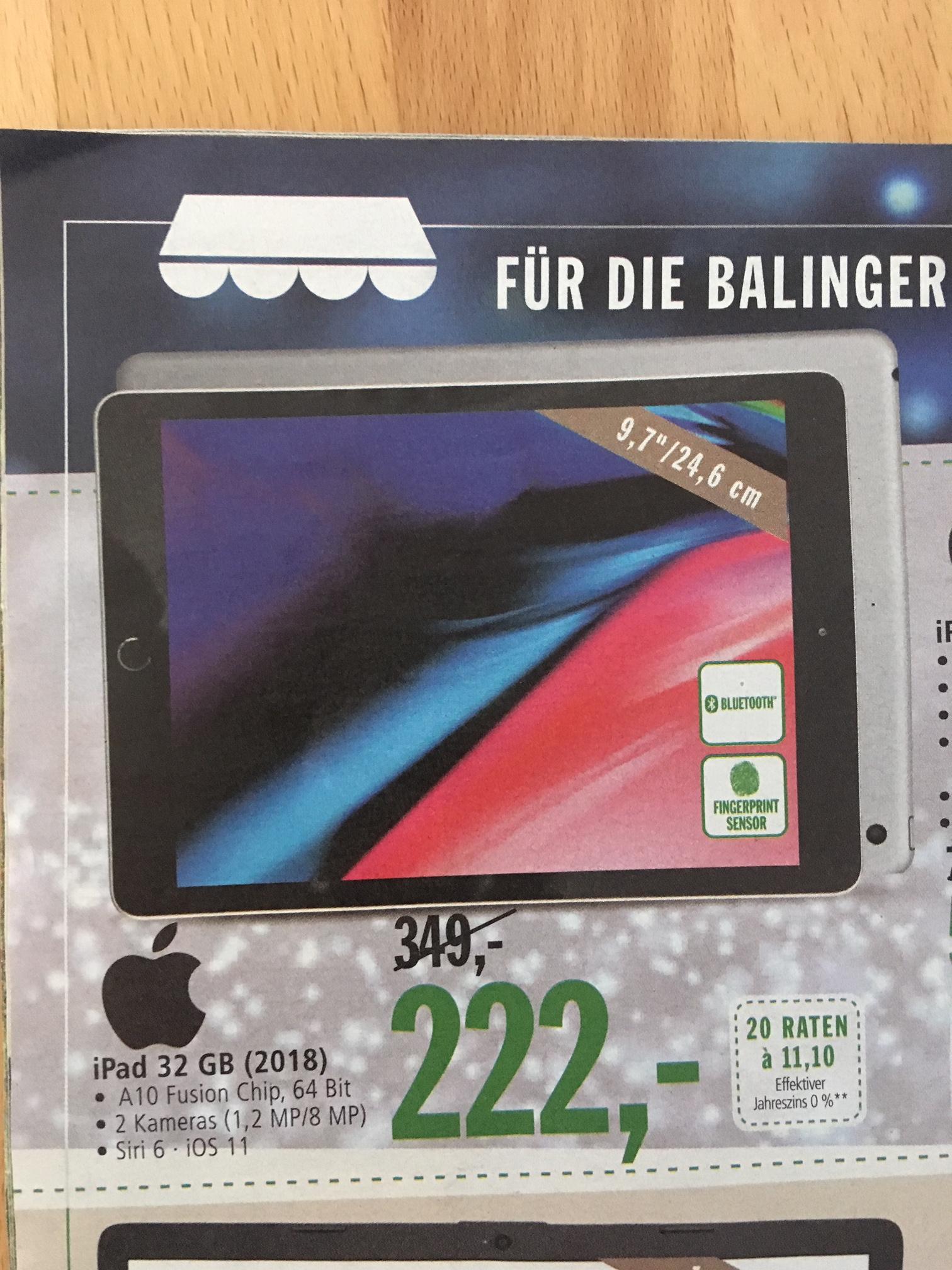 Apple iPad (2018) 32GB (nur regional in Balingen/Ba-Wü verfügbar, Neueröffnung Markthalle/real Markt)