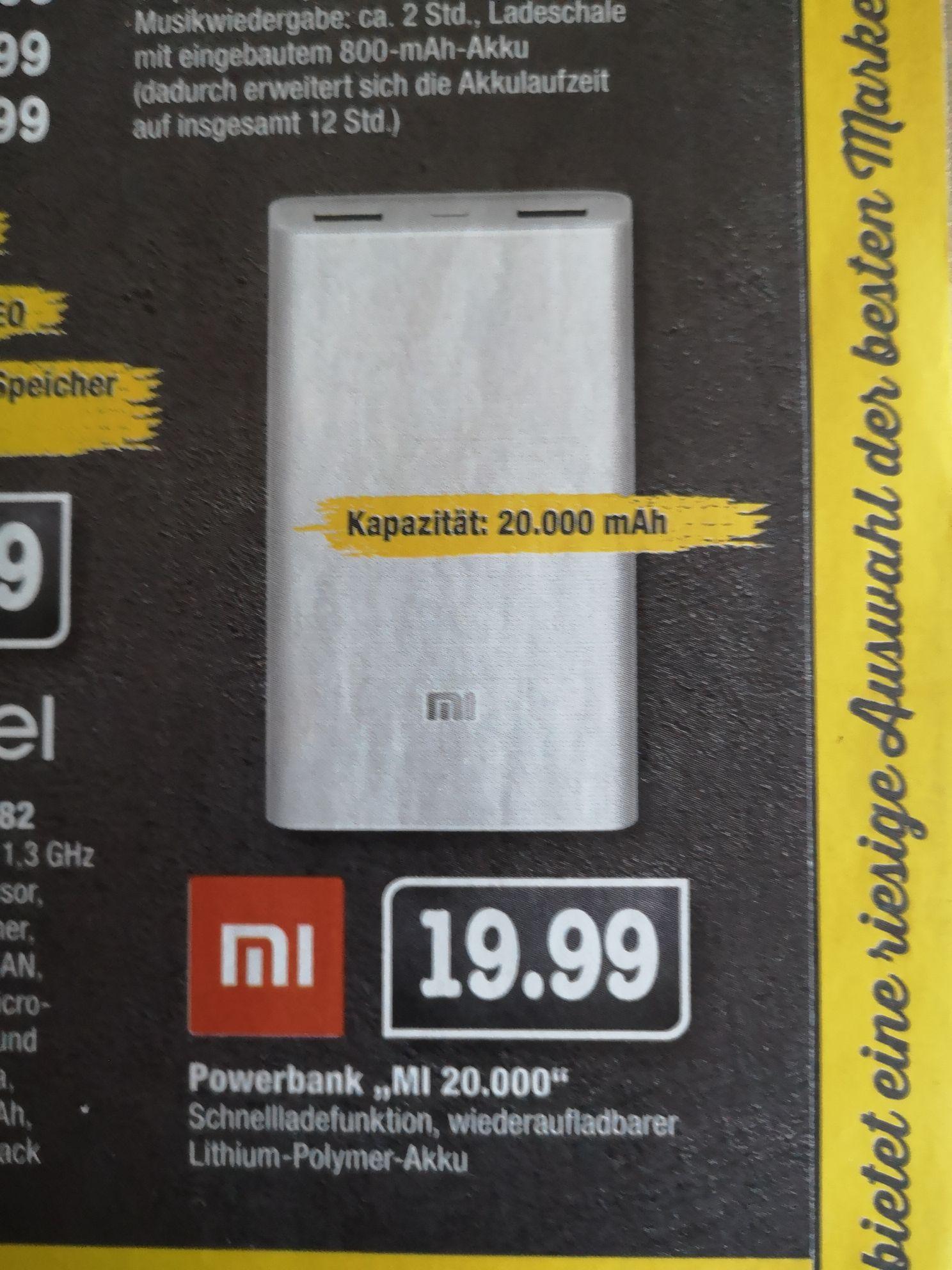 [Lokal Ecenter BW] Xiaomi Powerbank MI 20000 mAh