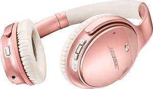 Bose QuietComfort 35 II - Noise Cancelling Wireless Over-Ear Kopfhörer (NFC, Sprachassistent) Limited Edition Rose Gold