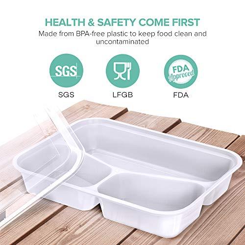 [Amazon prime] 3-Fach Meal Prep Container Set von Sable [20er Pack]