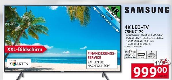 [SELGROS] Samsung UHD LED-TV UE75NU7179 1188,81€