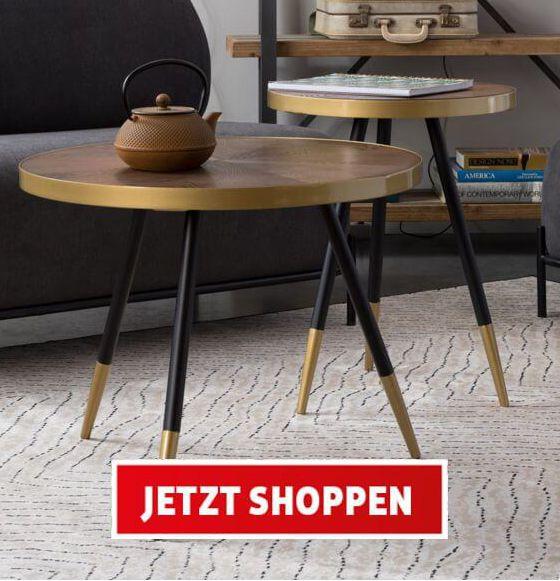 Moderne Beistelltische, Stühle & Leuchten, White Label Living, 20% + Gratis Versand