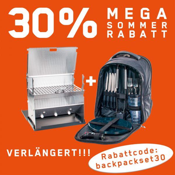 Fennek portabler Grill aus Edelstahl mit Backpack