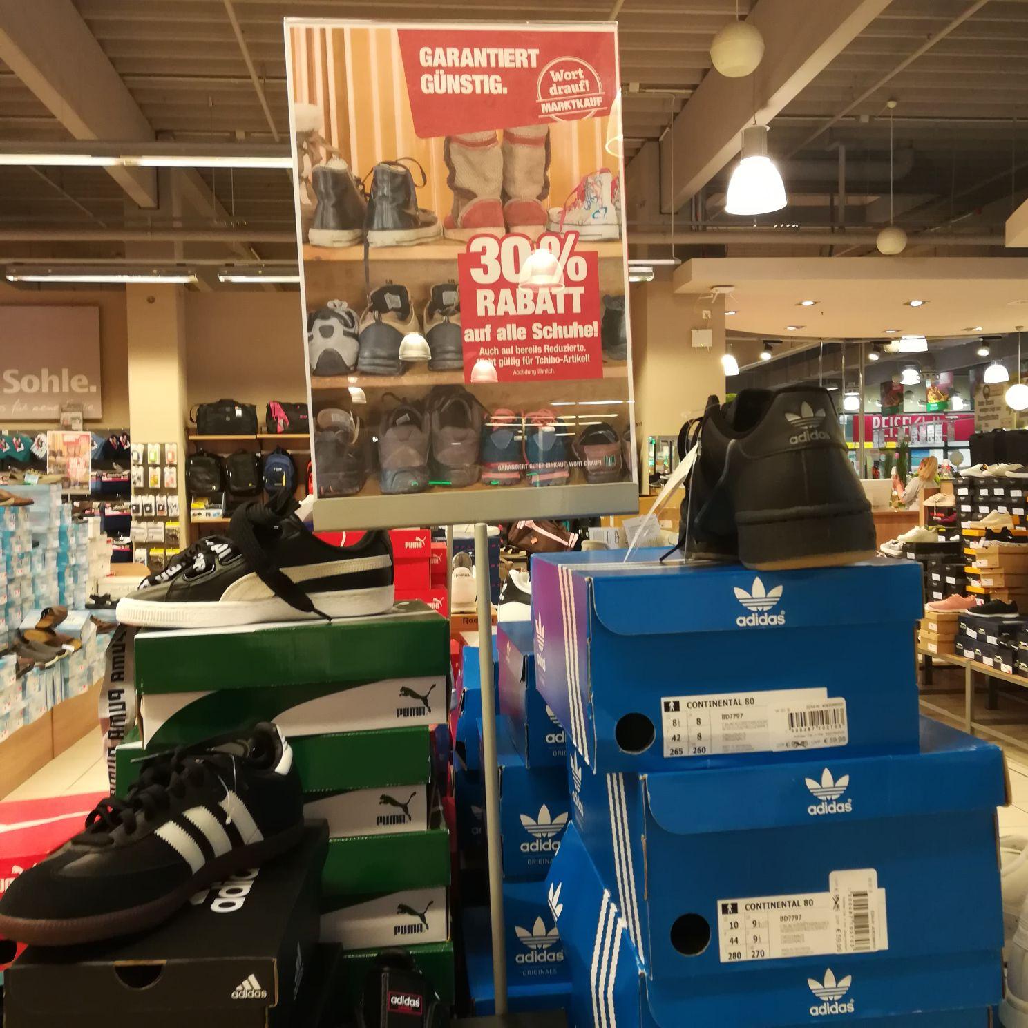 Evtl. LOKAL Marktkauf SW alle Schuhe - 30%