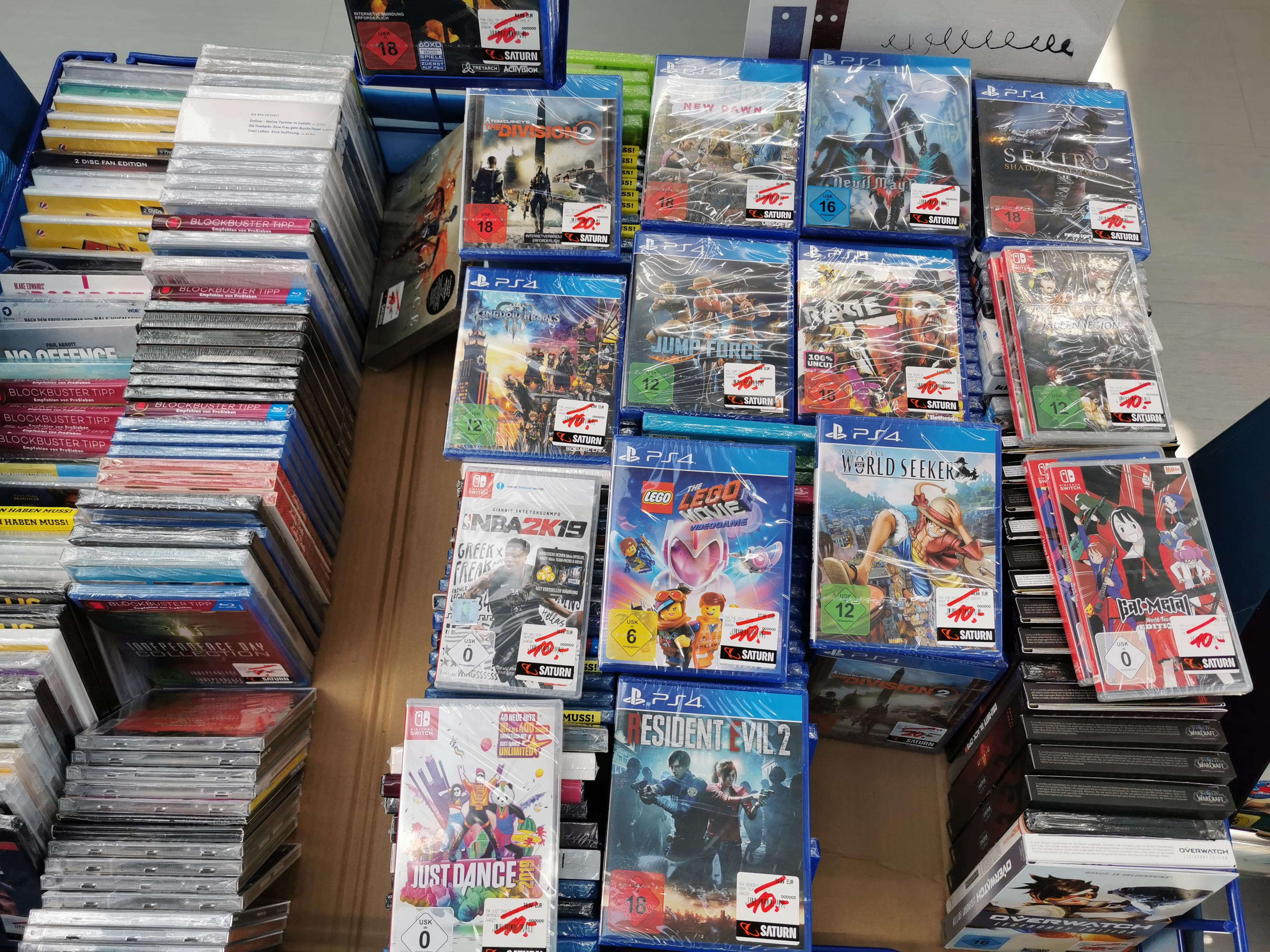 [Lokal] Saturn Kempten - Sekiro, Devil May Cry 5, Rage 2, Resident Evil 2 u.v.a. 10,-EUR