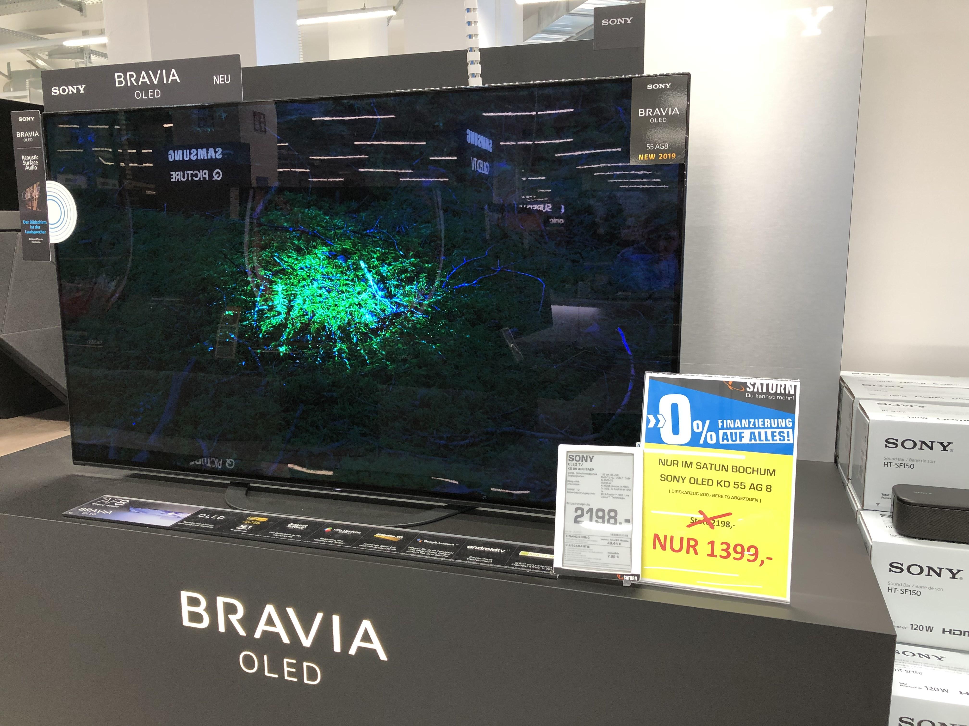 [Lokal] Saturn Bochum - SONY KD55AG8 OLED TV Bundesweiter Versand 39 Euro