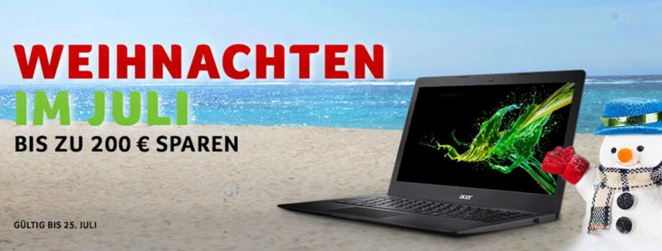 ACER 8% Cashback + 50€ Shoop.de-Gutschein* + bis zu 200€ Weihnachts (!) Rabatt! [Shoop]