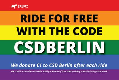 Freifahrten mit Donkey Bikes - CSD Berlin {Lokal}