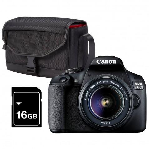 Canon EOS 2000D+ 18-55 III Value Up Kit inkl. 16GB Speicherkarte und Tasche