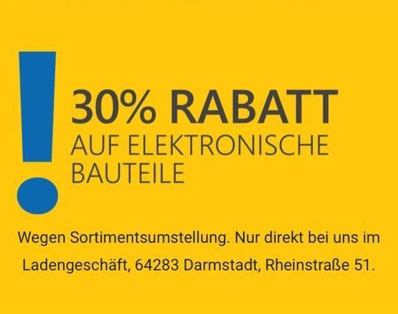 [LOKAL - Darmstadt] 30% auf Elektronische Bauteile - Elektronik Zimmermann