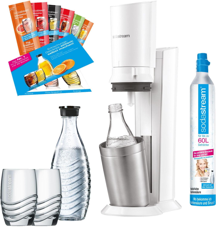 SodaStream Crystal 2.0 weiß Promopack inkl. 2 Glaskaraffen (-10€ über Check24 App)