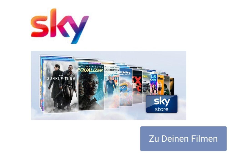Für sky Kunden, 10 Filme gratis im sky store!