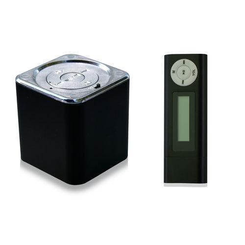 PREMIUM MP3 PLAYER BLACK 16 GB + EXTERNER SPEAKER FÜR NOTEBOOKS
