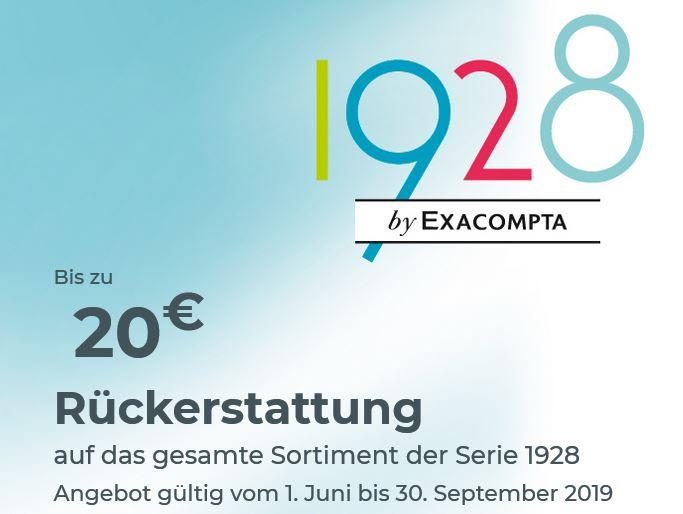 (Exacompta - Ordner, Mappen, Archivboxen) Sortiment der Serie 1928 kaufen und bis 20€ Rückerstattung erhalten