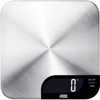 ADE KE 1600 Alessia Küchenwaage (5kg Tragkraft, 1g Genauigkeit, Tara, Flüssigkeitsanzeige, Touch-Bedienung, Abschaltautomatik, Edelstahl)