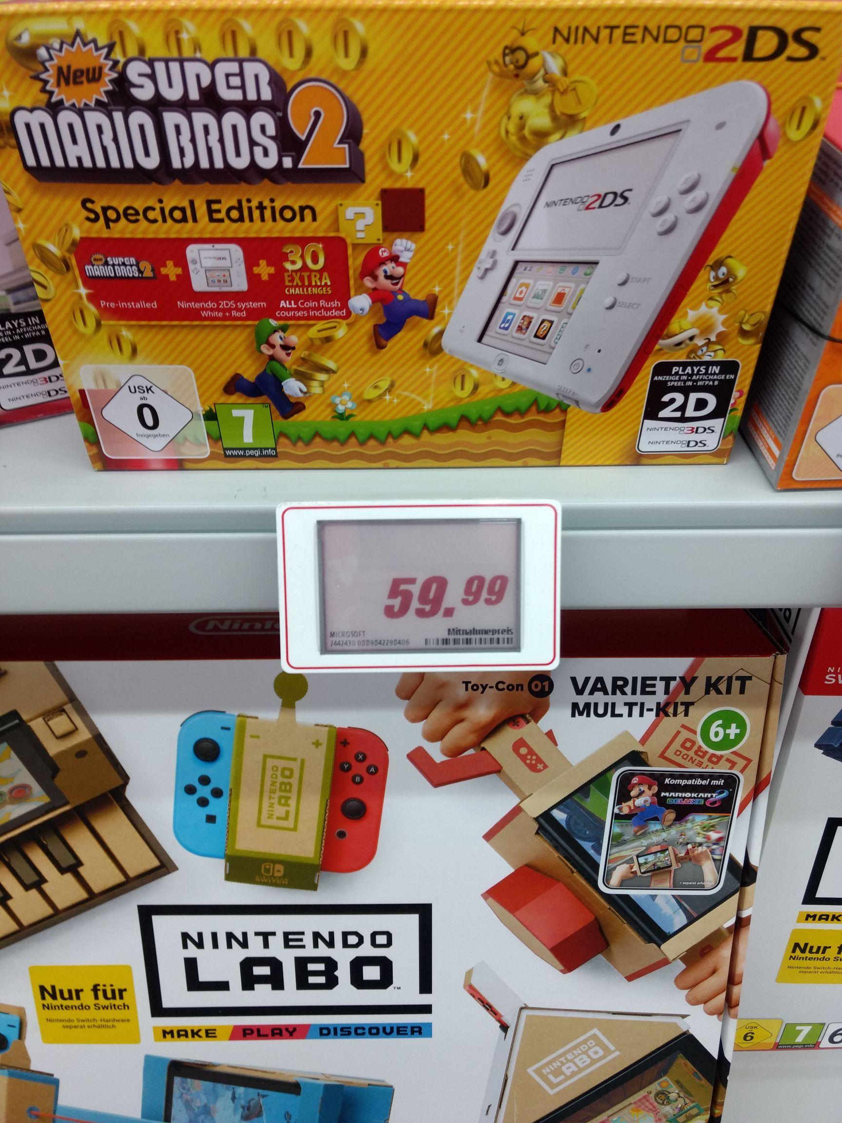 NINTENDO 2DS rot/weiß + New Super Mario Bros. 2 (Special Edition)  Lokal Straubing Mediamarkt