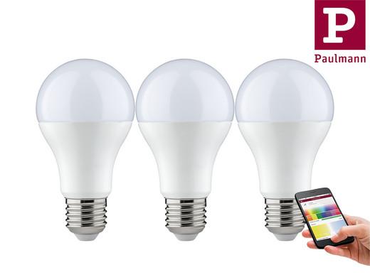 3x Paulmann Smart Lighting (E27, 9 W, 650 lm, BT, RGBW oder Tunable White) [iBOOD]