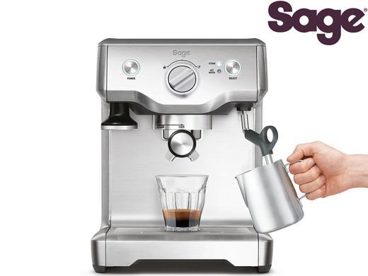 """Sage Siebträgermaschine mit Milchaufschäumer """"Duo-Temp Pro"""" (15 bar, Edelstahl-Espressomaschine) [iBOOD]"""