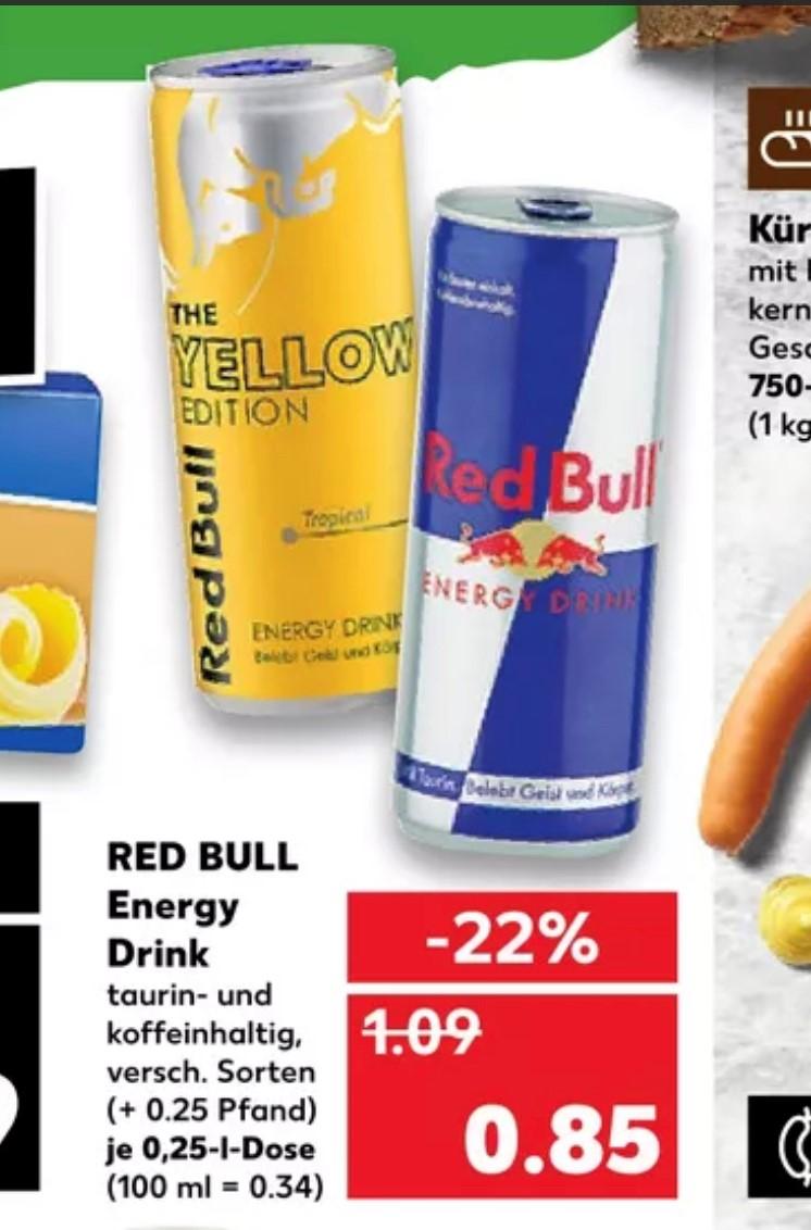 Kaufland - Redbull 0,85€ versch. Sorten