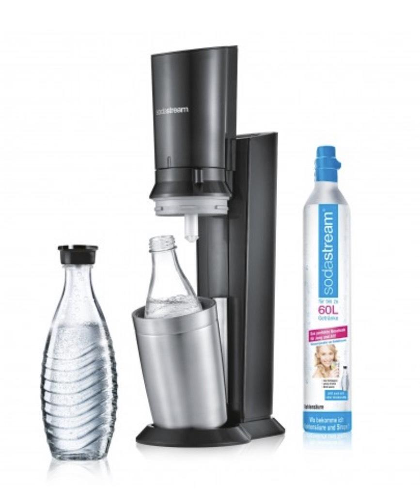 Sodastream Crystal 2.0 Titan inkl Zylinder & Glaskaraffe