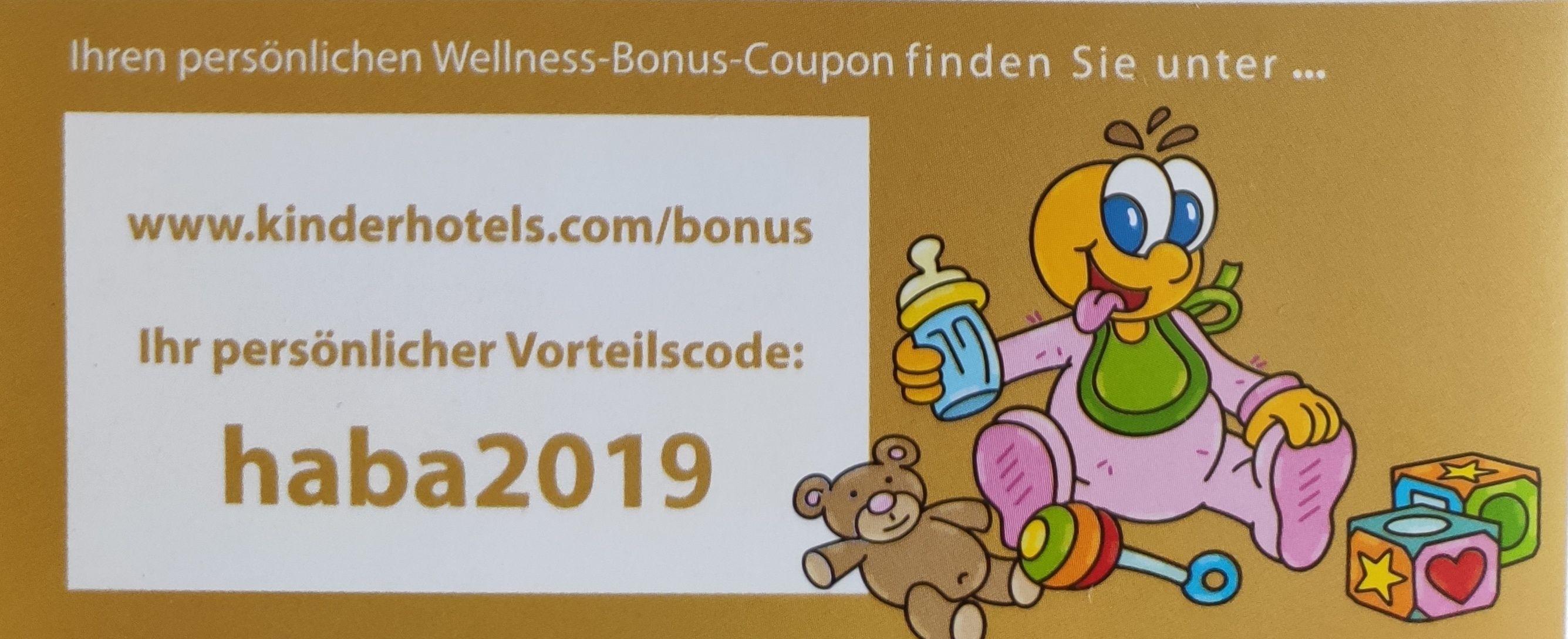 40€ Wellness-Bonus-Coupon für Kinderhotels