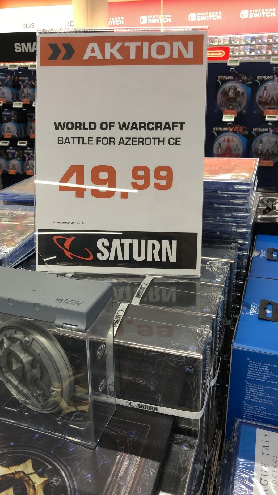 (Lokal Saturn Köln Innenstadt) World of Warcraft: Battle for Azeroth Collector's Edition für 49,99€ statt 99,99€