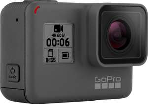 GoPro HERO6 Black Edition Actioncam (4K@60fps / 1080p@240fps, Touchscreen, WLAN, Bluetooth, 10m wasserdicht ohne Gehäuse) [B-Ware]