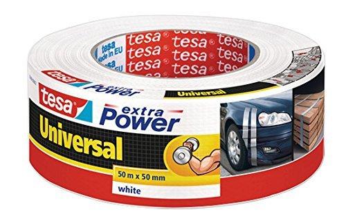 8 x 50m tesa extra Power® Universal Gewebeband Weiß für 28€
