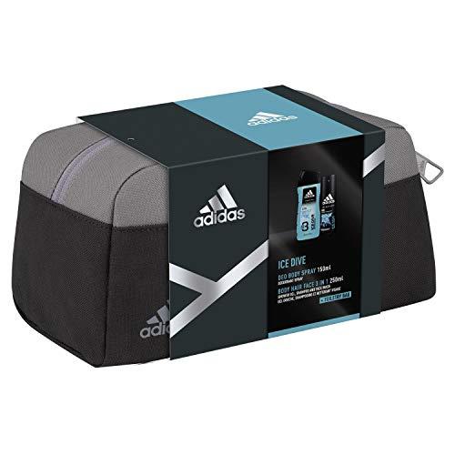 Amazon Prime: Adidas ICE Dive Reiseset mit Kulturbeutel + Deo (150ml) + Duschgel (250ml)
