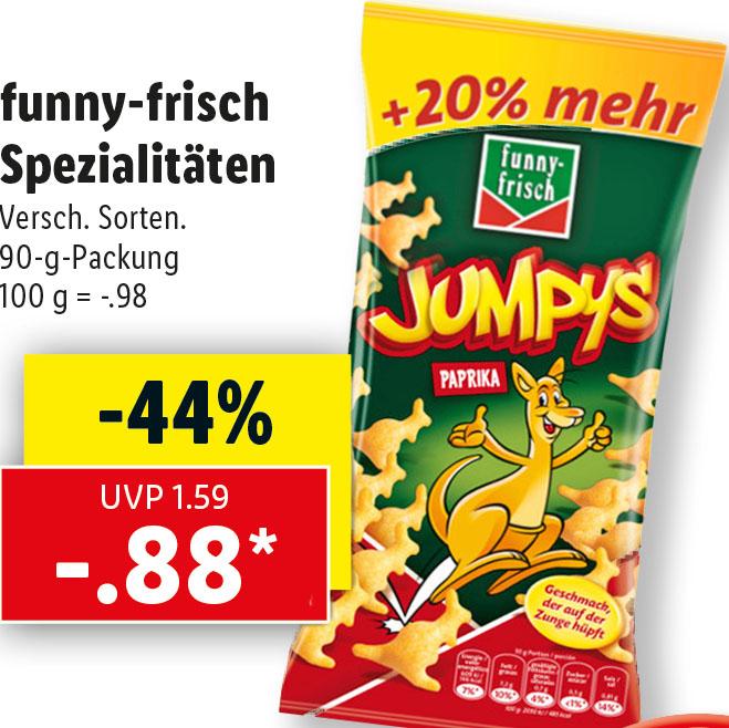 Funny-Spezialitäten mit 20% mehr Inhalt für nur 88 Cent bei (Lidl)