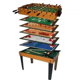 Multigame Tisch 15 in 1 Kicker, Pokertsich, Tischfußball, Billard, Tischtennis, Speed-Hockey, Kegeln, Schach (STABILO Fachmarkt)