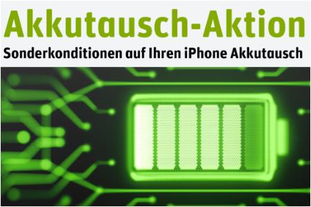 Offizieller/Zertifizierter iPhone Akkutausch für 28,99€ (iPhone mit Home Button) oder 48,99€ (X,Xs;Xr,Xs Max)
