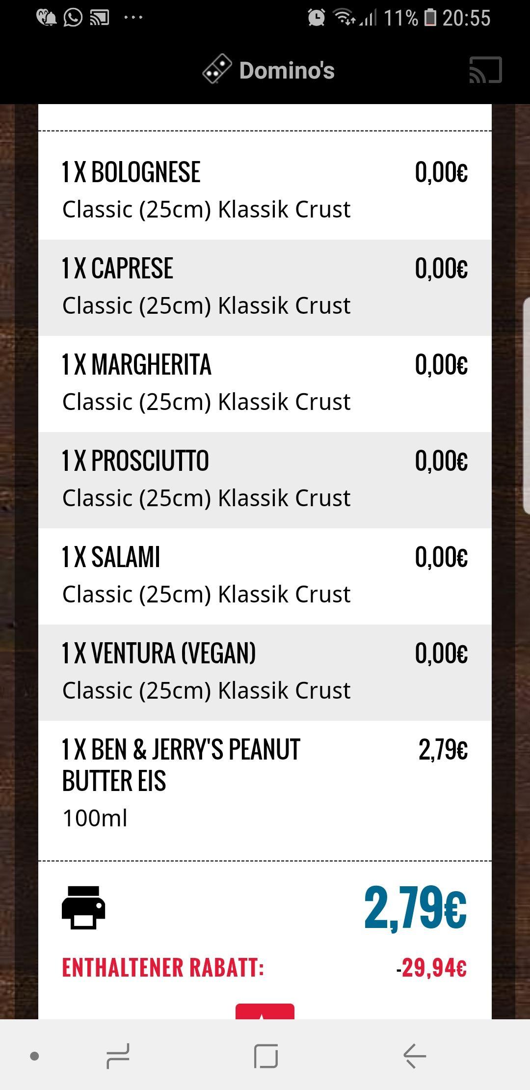 Dominos Bestell Glitch (nur noch 15 Min.!!) - bis zu 6x 25cm Pizza gratis bei Abholung