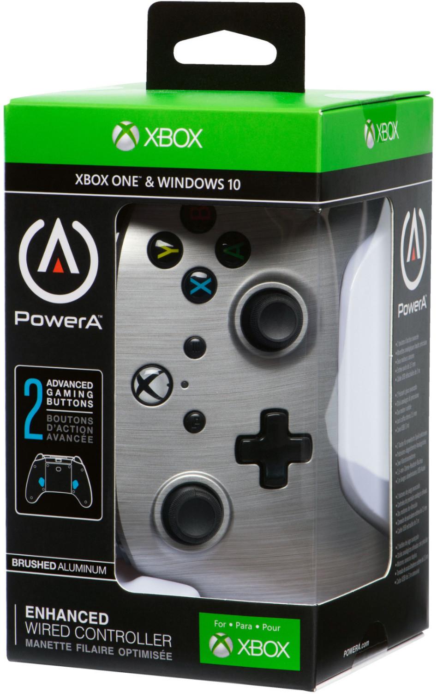 PowerA Xbox One Enhanced Wired Controller (Silver) für 24,17€ (Amazon FR)