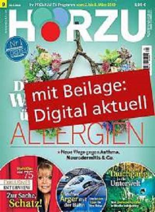 Hörzu mit digital Extra Abo (52 Ausgaben) für 125 € mit 115,00 € BestChoice Universalgutschein (Kein Werber nötig)