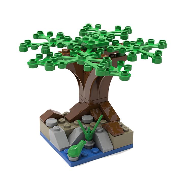 Gratis Lego Mini Modell Bautag - Baumhaus / Baum