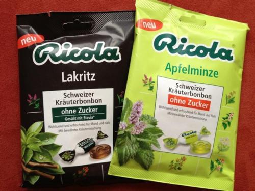 [Facebook Gewinnspiel] Gratis Ricola Apfelminze und Ricola Lakritz