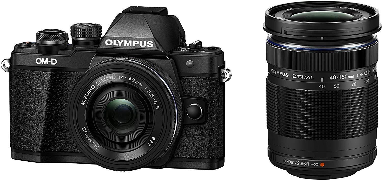 Olympus OM-D E-M10 Mark II MFT Systemkamera inkl. 14-42mm EZ + M.Zuiko Digital ED 40-150mm