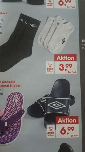 Netto MD Umbro Herren Sauna Slipper Gr.42-45