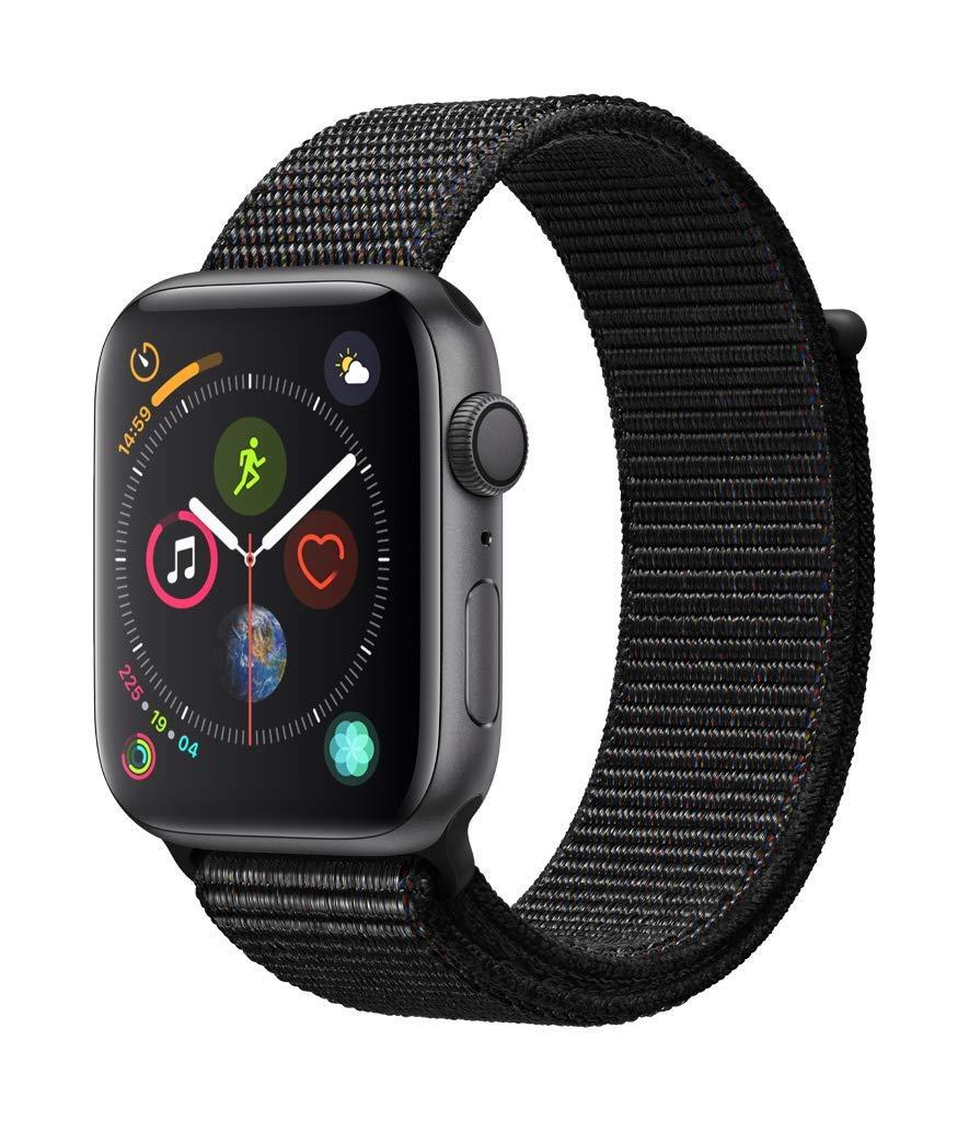 Apple Watch Series 4 GPS 44mm Space Grau Aluminum Sport Loop schwarz / weitere Modelle im Angebot z.B 40mm für 354,68€  [Amazon IT]