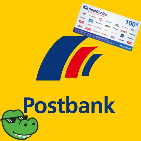 100€ BestChoice Gutschein für die Eröffnung des Postbank Giro Direkt (kostenlos für Azubis & Studenten)