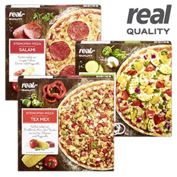 real Quality Steinofen-Pizza verschiedene Sorten 99 Cent